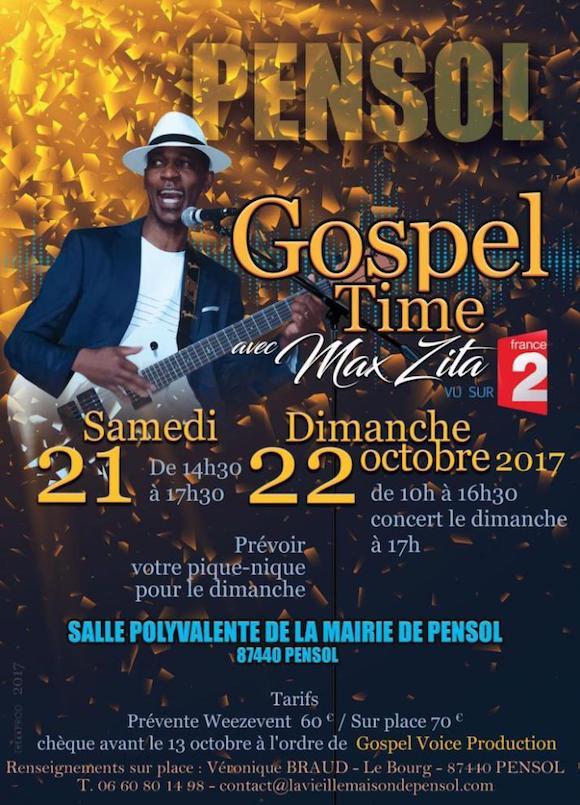 affiche stage chant gospel max zita
