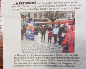 Artiche Dordogne Libre marche de Noel de Perigueux